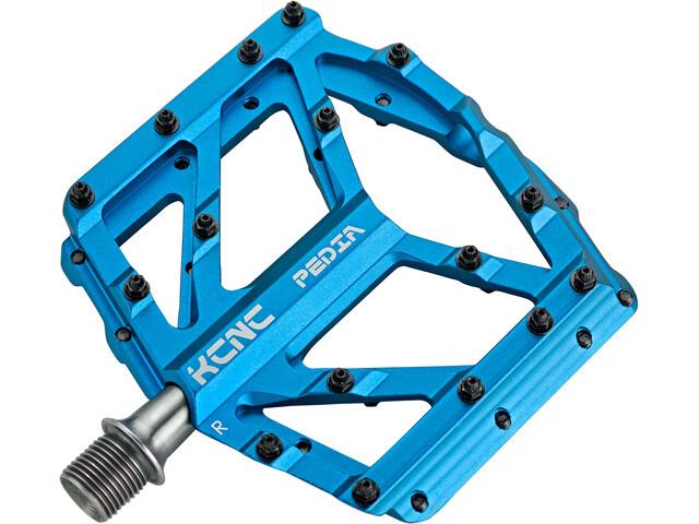 KCNC Pedia 2 Slim Platform Pedals for MTB/BMX blue